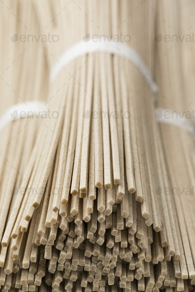 Japanese raw soba noodles bundles