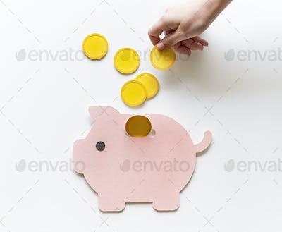 Piggy bank future money savings investment