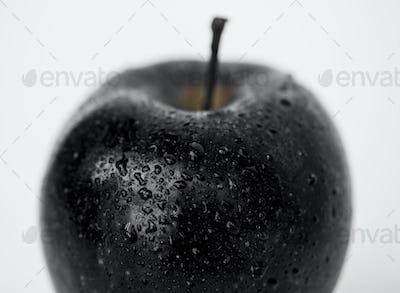 Macro shot of apple isolated on white background