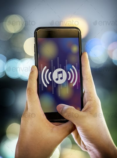 Smartphone music application concept