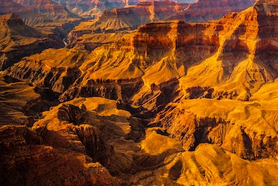 Landscape detail view of Grand canyon, Arizona