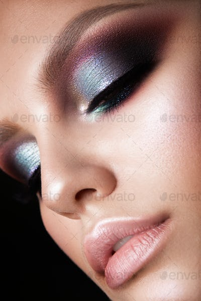 Beautiful woman with professional make up