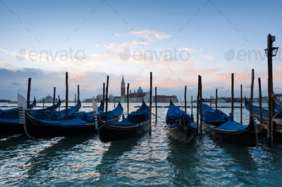 Early morning over the Venice Grand Canal