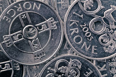 Norwegian krone background