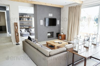 Interior Of Stylish Contemporary Lounge