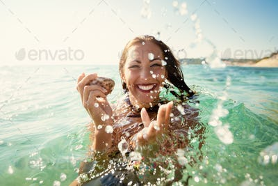 Funny Girl On The Summer Vacation