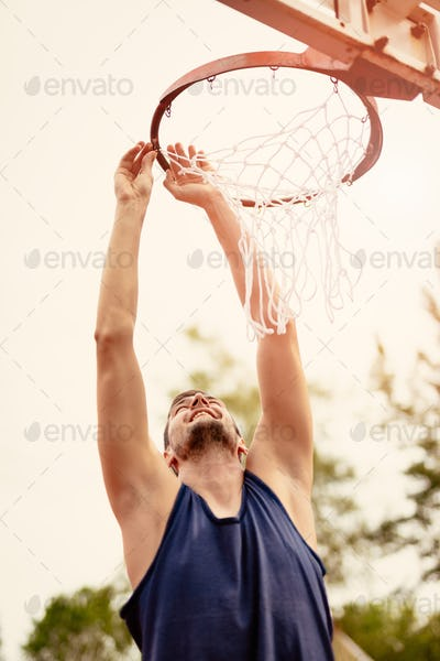 Basketball Net On The Hoop