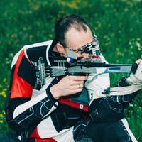 Sport shooting with free rifle