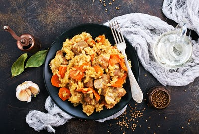 Fried Rice with Vegetables and Meat