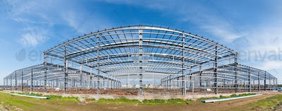 steel structure workshop panoramic view