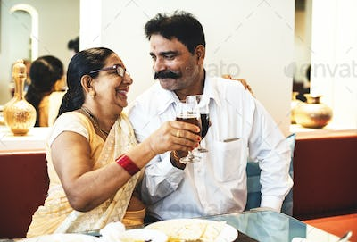 A happy Indian couple spending time together