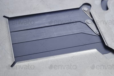 Full frame DSLR shutter macro detail. Photographic equipment. Repair parts