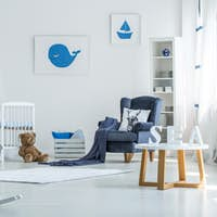 Rocking horse in child's room