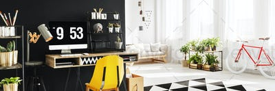 Open space apartment with study
