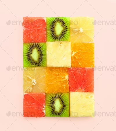 various fruit pieces