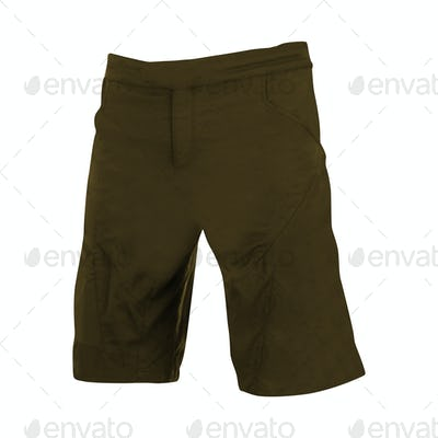 green shorts isolated on white