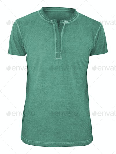 Green tshirt islated on white background