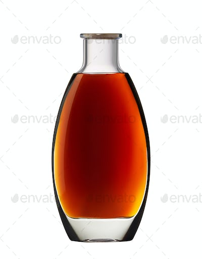 Cognac, whiskey or brandy bottle