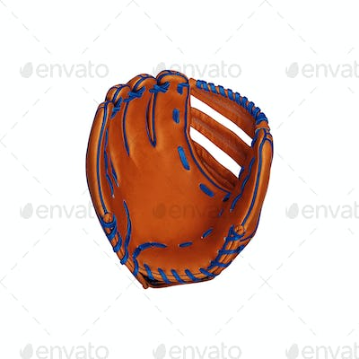 leather baseball glove isolated on white