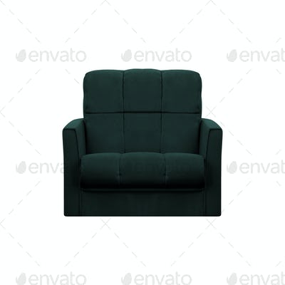 modern leather chair isolated on white background