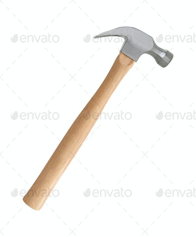 Iron hammer isolated on a white