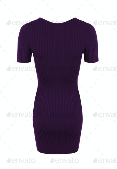 cocktail dress on white background