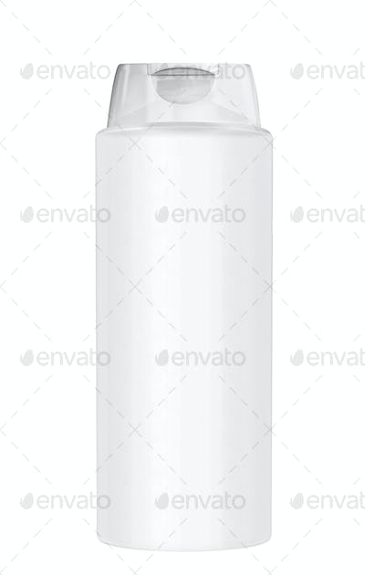 White plastic Shampoo Bottle