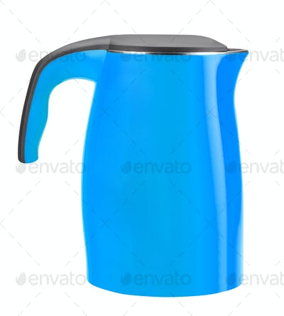 electric kettle isolated on white
