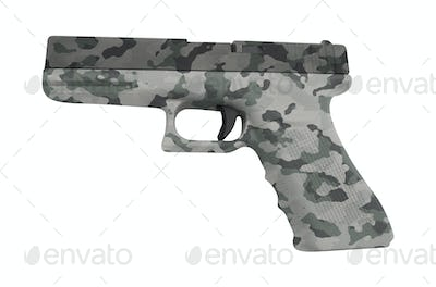 Glock automatic 9mm handgun pistol isolated on white