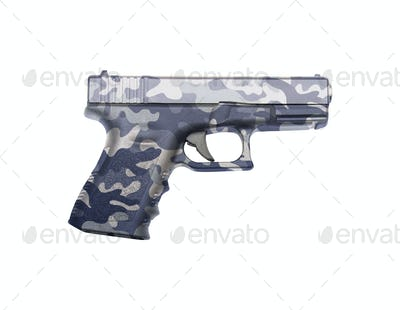 Glock automatic 9mm handgun pistol isolated