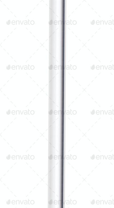 Metal pipe isolated on white background