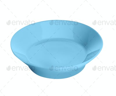 Blue plate isolated on white