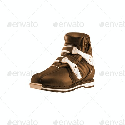 Winter mens shoe isolated on white