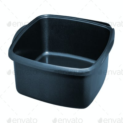 Plastic basin isolated on white background