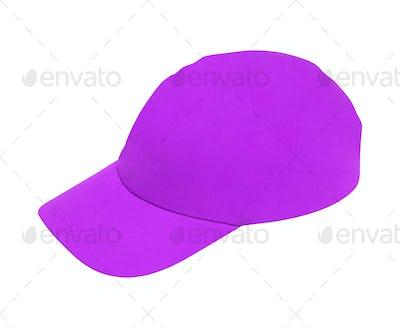 purple baseball hat isolated on white