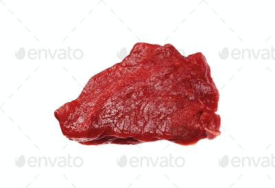 beef meat isolated on white background