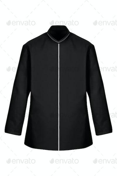 black bathrobe isolated