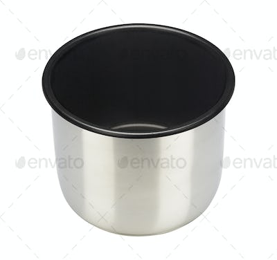 Stainless pot isolated
