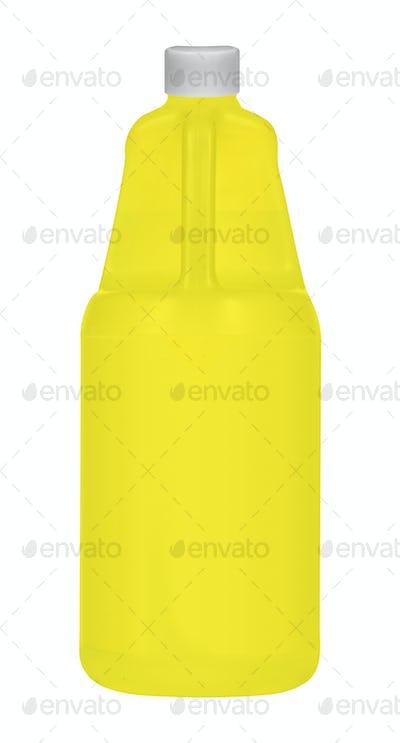 Bottle of Shampoo isolated on white
