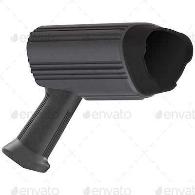 radar speed gun, isolated on white background