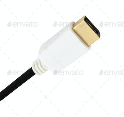HDMI computer cable isolated on white background