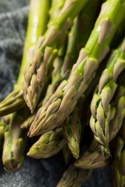 Healthy Organic Green Asparagus Stalks