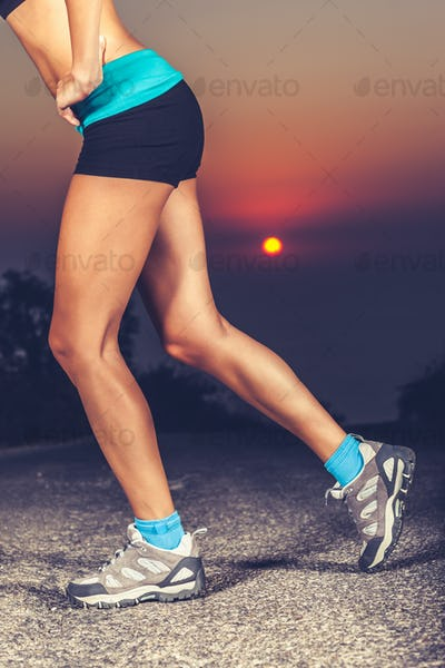 Beautiful sportive womens legs