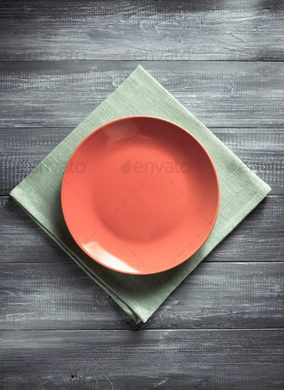 plate and napkin at table