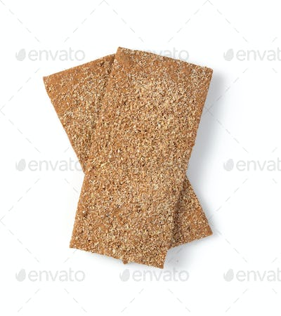 crispy bread isolated on white