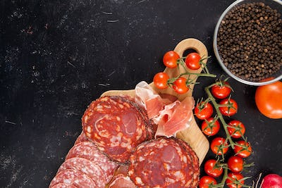 Delicious and healthy meat appetizers