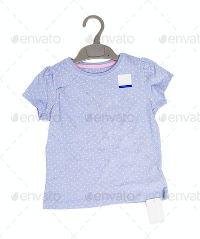 Blue dotted cotton t-shirt.