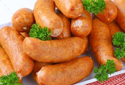 Organic kielbasa sausages