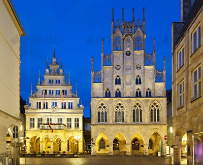 Old Town Hall Of Muenster, Germany