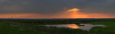 Colorful Sunset Panorama